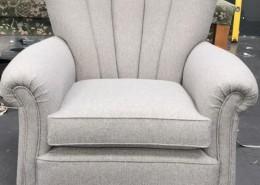 Fluted armchair