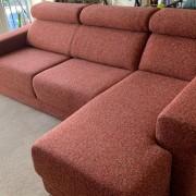 Sofa with headrest