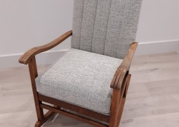 Fluted rocking chair